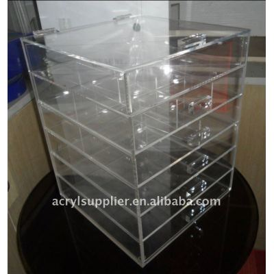 Clear acrylic makeup/cosmetic storage organizer with drawers