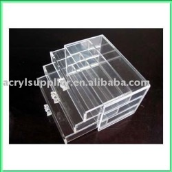 acrylic drawer cosmetic organizer