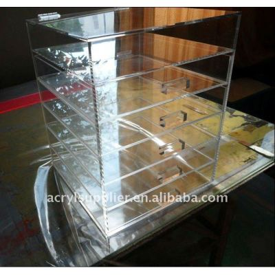 Acrylic make up organizer with drawers