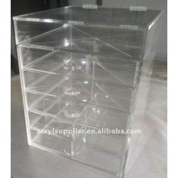 6 tiers acrylic storage drawer with dividers