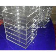 Clear Acrylic 6 tiers makeup organizer with lid