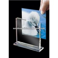 acrylic photo frame with stand
