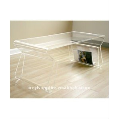clear elegant Acrylic dining table for living room