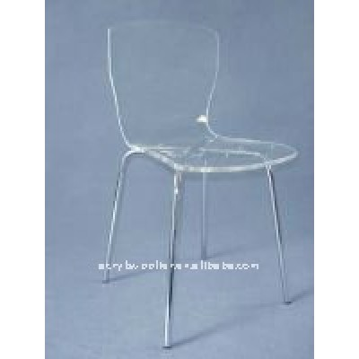 comfortable acrylic dining chair for home or reataurant