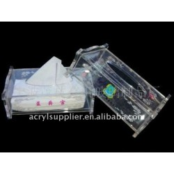 Transparant environmental clear acrylic tissue holder for hotel