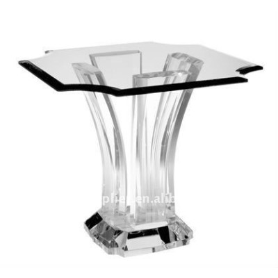 Fashion clear acrylic coffee table with high transparent