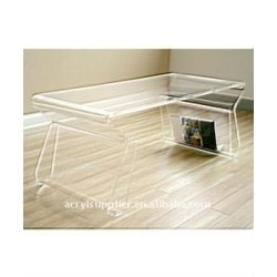 transparent acrylic coffee table for home or hotel