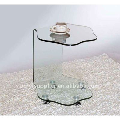 new style transparent clear acrylic table top for hotel or home