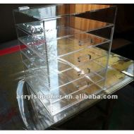 Clear Acrylic Cube Cosmetic Makeup Organizer
