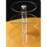 Clear acrylic cake stand for hotel/ wedding