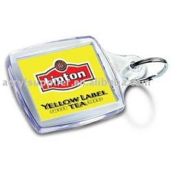 acrylic keyring with printed insert