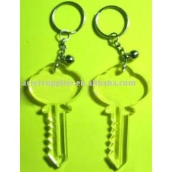 Key shaped Acrylic Keyring