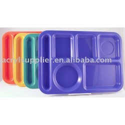 Lunchroom-Style Acrylic Compartment Trays