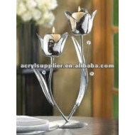 Clear fashion high-end acrylic flower-shaped candlestick