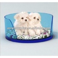 arcylic pet bed dog/cat beds holder