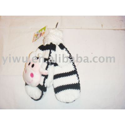 knitted glove/ladies glove/child glove/chenille glove