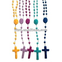 Plastic Glow in the Dark Rosary Necklace