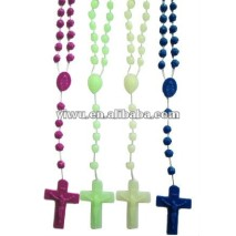 Glow in the Dark Plastic Rosary Necklace