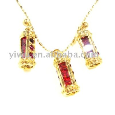 18K gold zirconium jewelry set