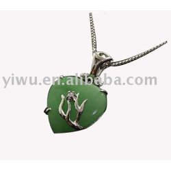 925 Sterling silver jade necklace