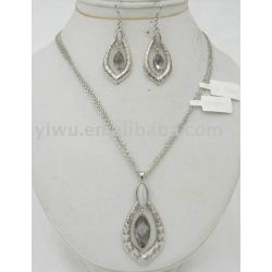 Glass jewelry set