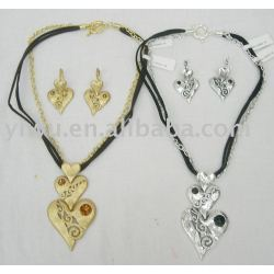 heart shaped jewelry set