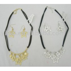 pentacle silver jewelry set