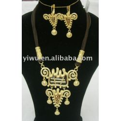 18K gold jewelry set