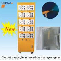 Control system of automatic powder gun control unit