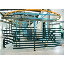 Aluminium extrusion profile powder coating line
