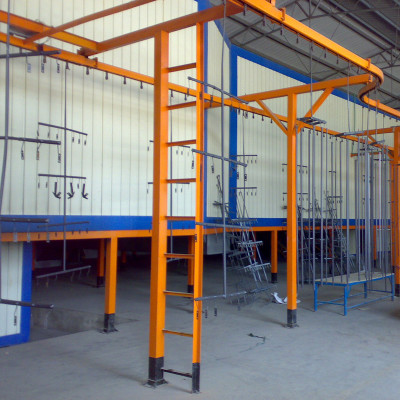 overhead conveyor curing oven