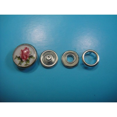 Flower Design Pearl Snap Button Designer Pearl Snap Button