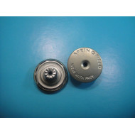 Flat Dull Silver Metal Shank Button