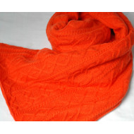 ORANGE CASHMERE THROW