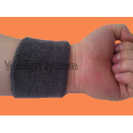 Grey Sports Terry Sweatband