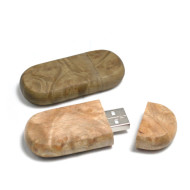 Wood Stone Shape USB Flash Drive