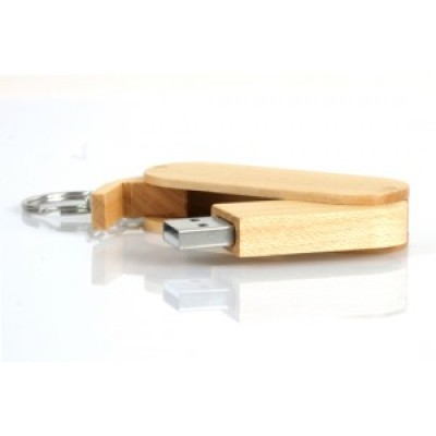 Wood Customized Swivel USB Flash Drive With Your Company Logo