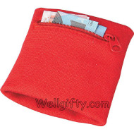 Wristband with Zipper Pocket