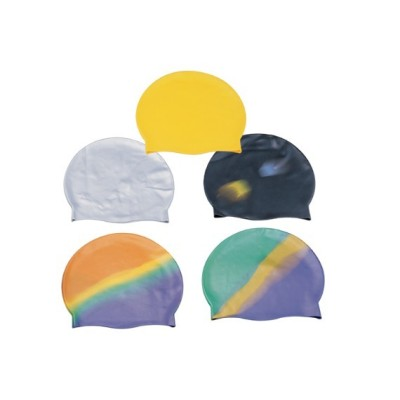 2012 Colorful Silk Printing Silicone Swimming Cap