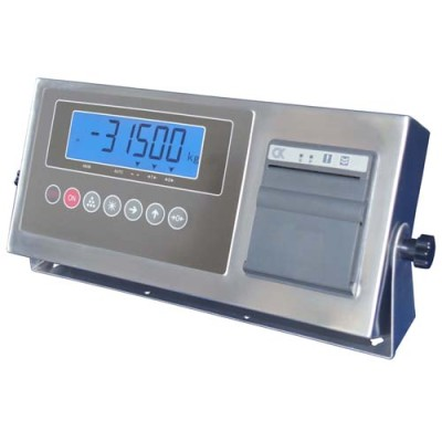 Stainless steel weighing indicator with printer