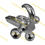 Tri Ball Trailer Hitch with Tow Hook Full Chrome coated