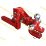 Adjustable Tri-Ball Hitch with U loop  Red powder coated