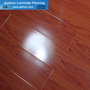 12mm glossy CE laminate flooring