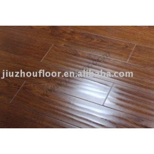 Pvc handscraped v-groove laminate flooring