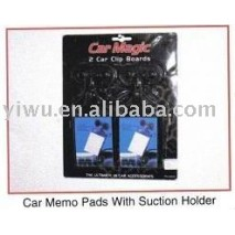 Yiwu Dollar Store Item Agent of Car Memo Pads with Suction Holder