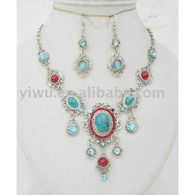 Gemstone jewelry set