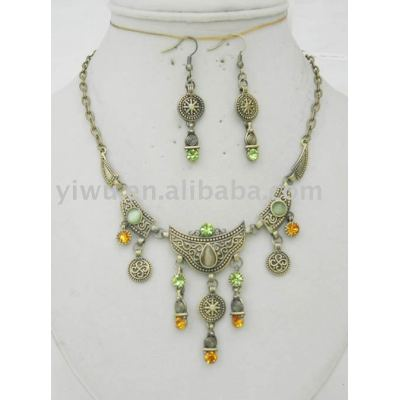 crystal stone bronze jewelry
