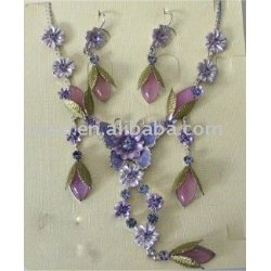 butterfly flower jewelry set