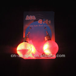 christmas light earrings,glow earrings