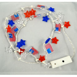 flashing necklace by flag